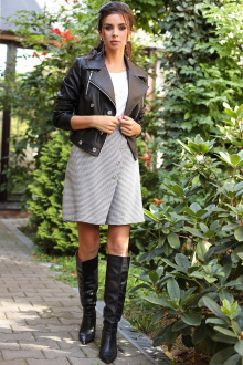 куртка,  шорты Мода Юрс 2700 черный-серый