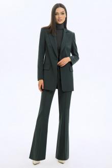 брюки,  жакет LaVeLa L40046 серо-зеленый