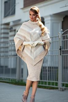 юбка, пончо Diva 1327-2 св.беж