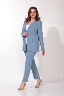 брюки,  жакет Anna Majewska 1445 серо-голубой
