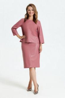 блуза,  юбка TEZA 1800 пыльно-розовый
