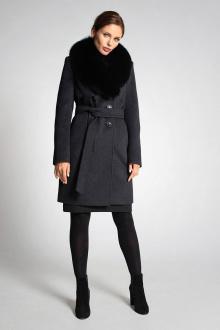 пальто Gotti 102-15м тёмно-серый