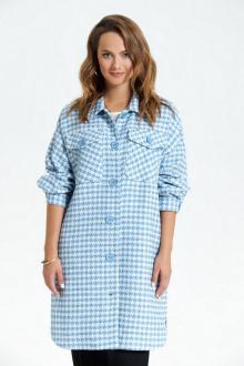 рубашка TEZA 2687 голубой