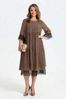 платье TEZA 2689 бежевый+камушки