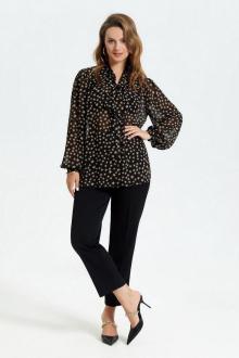 блуза,  брюки TEZA 2695 звезды+черный