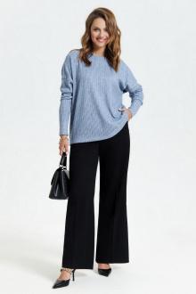 брюки,  джемпер TEZA 2945 голубой+черный
