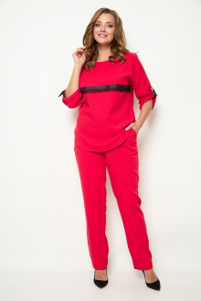блуза,  брюки Michel chic 1258 красный