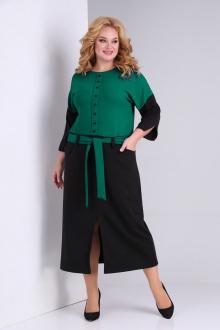 платье SOVITA M-2131 зеленый-черный