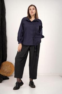 блуза GRATTO 4134 темно-синий