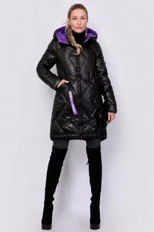 куртка PATRICIA by La Cafe NY32082 черный,фиолетовый
