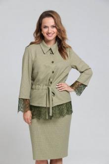 жакет,  юбка SandyNa 130502 олива
