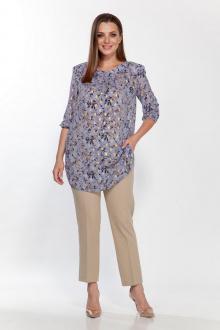 блуза,  брюки Belinga 2187 голубой/песок