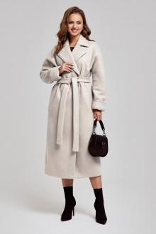 пальто SandyNa 130604 серо-жемчужный