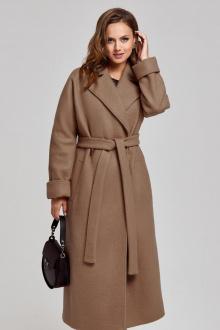 пальто SandyNa 130604 орехово-шоколадный