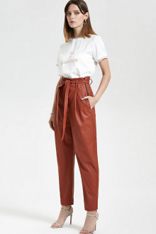 брюки Moveri by Larisa Balunova 3054BL терракотовый