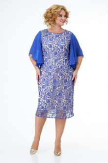 платье Anelli 347 темно-голубой