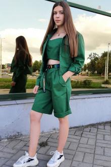 жакет,  шорты Lady Smile 02К зеленый