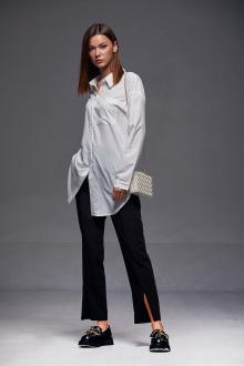 рубашка Andrea Fashion AF-178 молоко-сердце