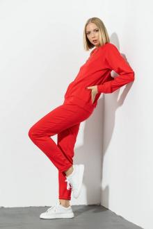 брюки,  свитшот Domna 16073 красный