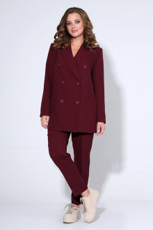брюки,  жакет Liona Style 799 бордо