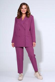 брюки,  жакет Liona Style 799 лиловый
