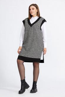 блуза,  жилет Милора-стиль 937