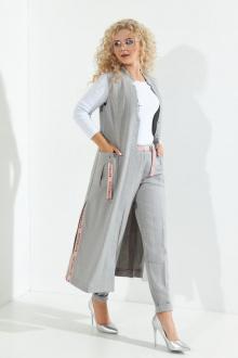брюки,  жилет Euromoda 265 серый