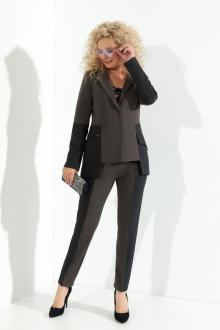 блуза,  брюки,  жакет Euromoda 363 серый+графит