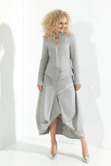 жакет,  юбка Euromoda 372 серый