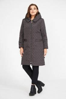 пальто Магия Стиля М-2256 коричневый-узор_клетка