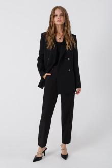 брюки,  жакет,  топ PiRS 1380 черный+черный