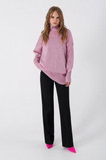 брюки,  свитер PiRS 3374 розовый-черный