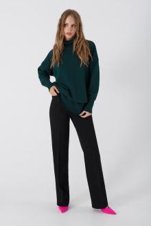 брюки,  свитер PiRS 3374 изумруд-черный