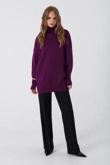 брюки,  свитер PiRS 3374 фиолетовый-черный