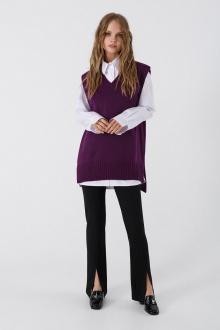 брюки,  жилет PiRS 3392 фиолетовый-черный