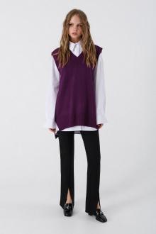 брюки,  жилет,  рубашка PiRS 3393 фиолетовый-белый-черный
