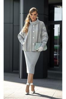 юбка, полупальто Diva 1336 серый