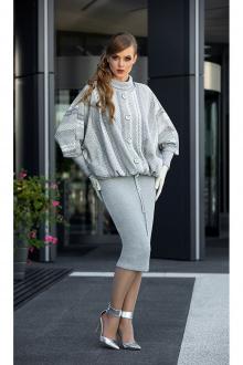 куртка,  платье Diva 1337 серый