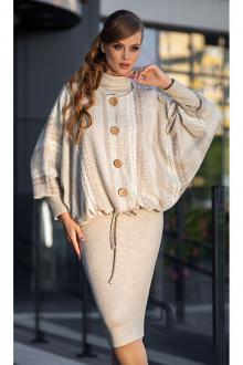 куртка,  платье Diva 1337-1 св.беж