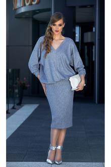 джемпер,  юбка Diva 1338 голубой