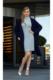 кардиган,  платье Diva 1339-1 синий+серый