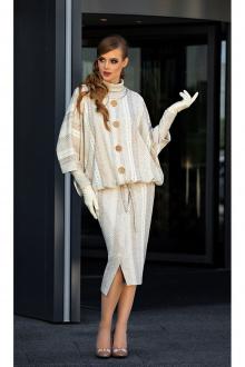 водолазка,  куртка,  юбка Diva 1345 св.беж