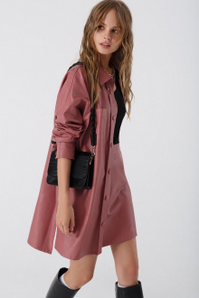 рубашка,  юбка PiRS 3394 серо-розовый