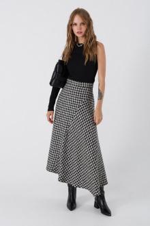джемпер,  юбка PiRS 3399 черно-белый+черный