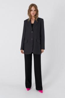 брюки,  жакет PiRS 3409 графит-черный