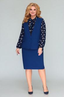 блуза,  жилет,  юбка Bonna Image 529 темно-синий