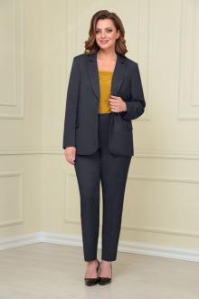 блуза,  брюки,  жакет VOLNA 1205 графит/горчично-желтый