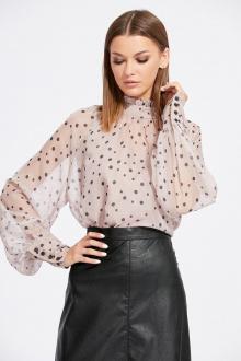 блуза,  топ EOLA 2107 пудра_горох