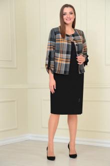 жакет,  юбка VOLNA 1207 горчично-черный