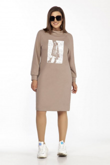 платье Olegran 3793 капучино